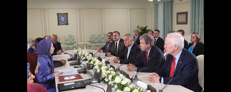 Senators-meet-Rajavi-in-Albania